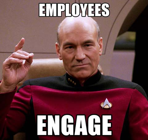 Employees Engage - meme graphic featuring Captain John Picard